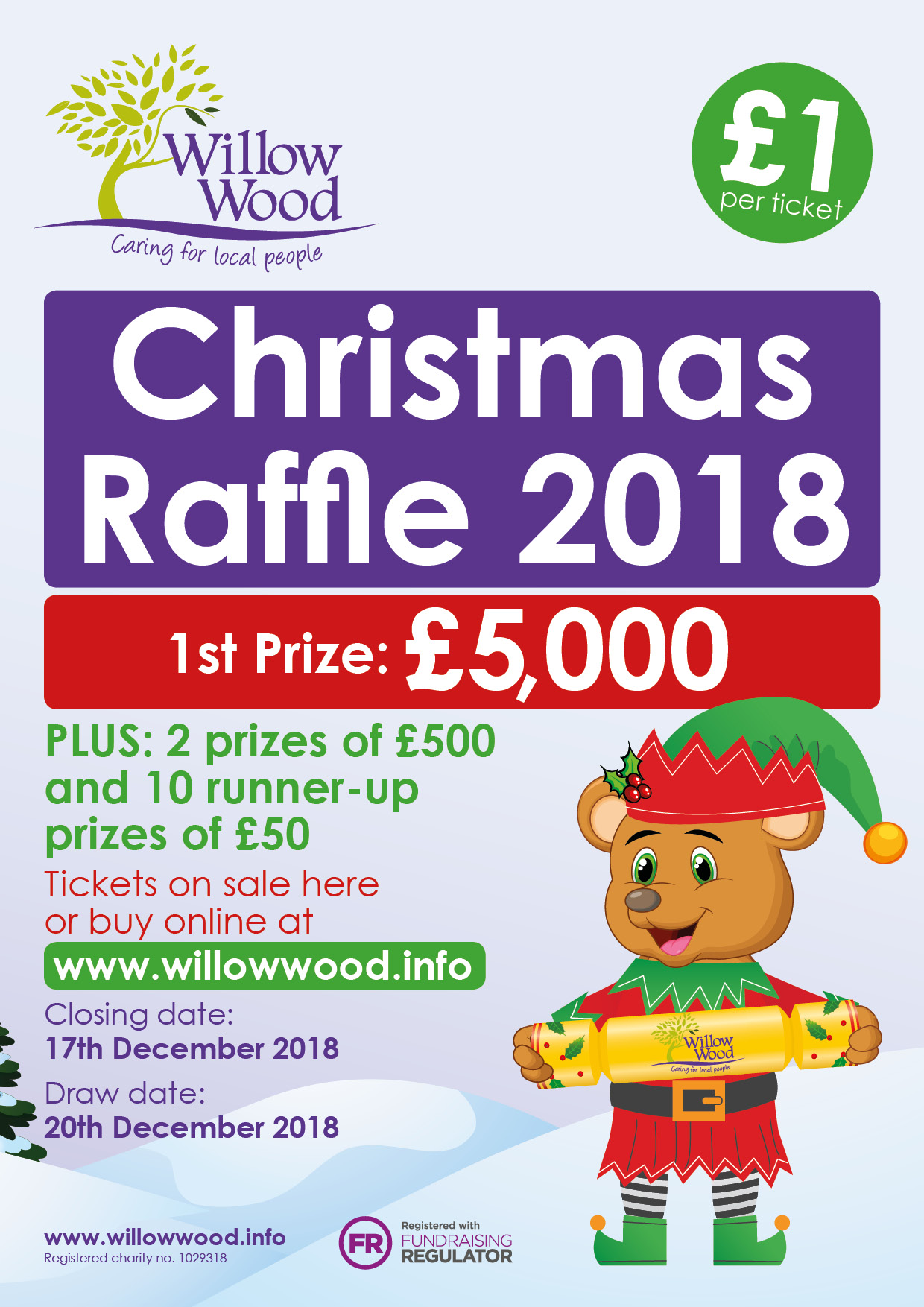 Willow Wood Hospice Christmas Raffle 2018